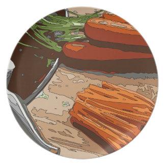 Zanahorias, cebollas sabrosas y apio tajados para plato de cena