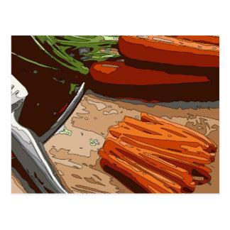 Zanahorias, cebollas sabrosas y apio tajados para tarjetas postales