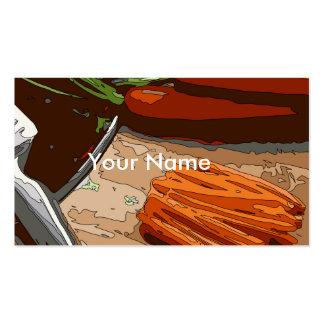 Zanahorias, cebollas sabrosas y apio tajados para tarjetas de visita