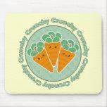 Zanahorias crujientes Kawaii Mousepad Alfombrilla De Ratones