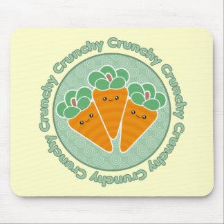 Zanahorias crujientes Kawaii Mousepad