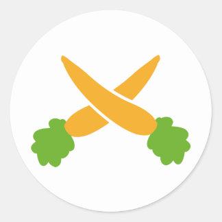 Zanahorias cruzadas pegatina