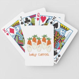 Zanahorias de bebé baraja de cartas