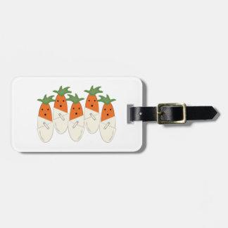 Zanahorias de Diapered Etiquetas Maletas
