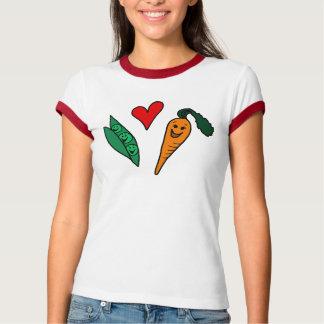 Zanahorias del amor de los guisantes, camiseta camisas