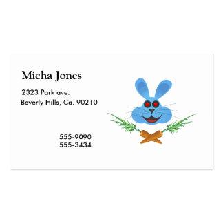 Zanahorias del conejito y de la cruz tarjetas de visita