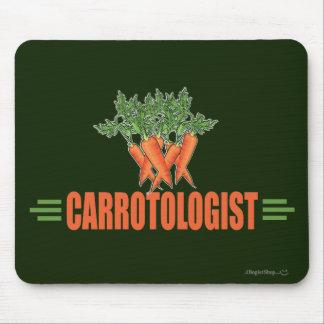 Zanahorias divertidas alfombrillas de ratones