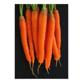 Zanahorias frescas del jardín invitacion personalizada