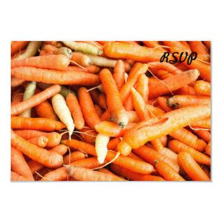 """Zanahorias Invitación 3.5"""" X 5"""""""