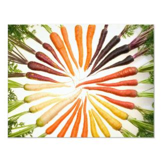 """Zanahorias Invitación 4.25"""" X 5.5"""""""