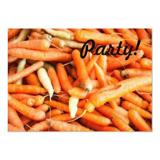 """Zanahorias Invitación 5"""" X 7"""""""
