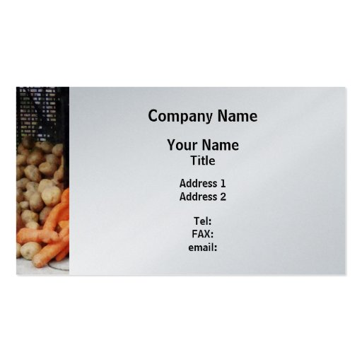 Zanahorias, patatas y miel - final del platino tarjetas de visita