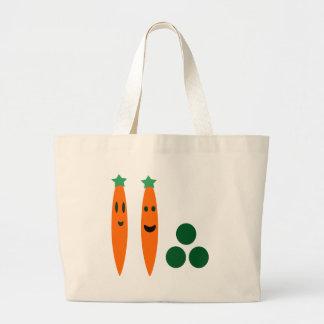 Zanahorias y guisantes bolsas de mano