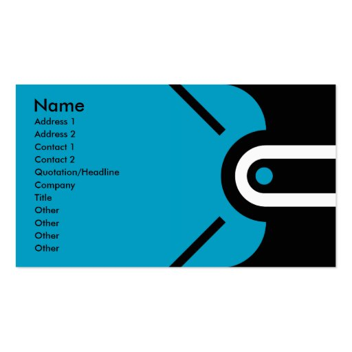 Zander - Blue Business Cards