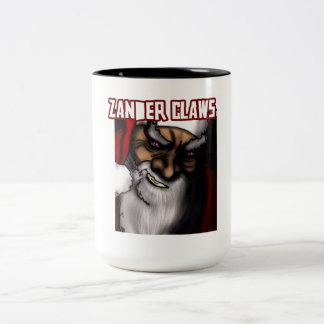 Zander Claws - the evil Santa Two-Tone Coffee Mug