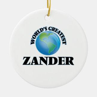 Zander más grande del mundo adorno para reyes