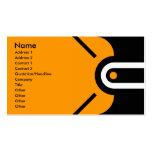 Zander - Orange Business Card Template