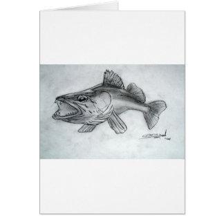 Zander pencil sketch card