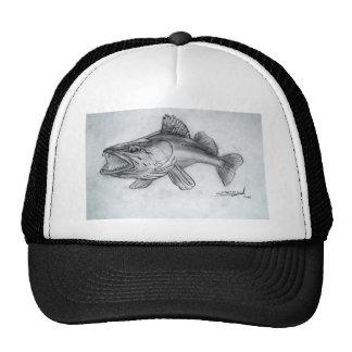 Zander pencil sketch trucker hat