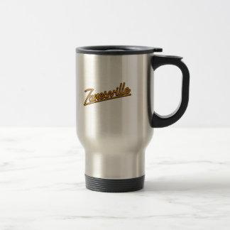 Zanesville in orange travel mug