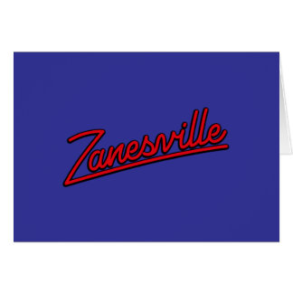 Zanesville in red greeting card