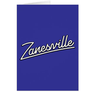 Zanesville in white greeting card
