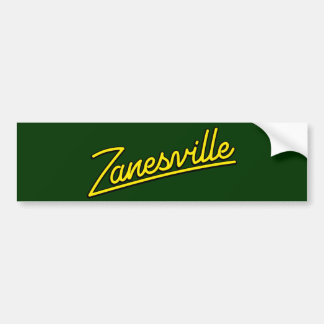 Zanesville in yellow bumper sticker