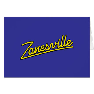 Zanesville in yellow greeting card