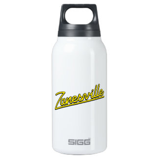 Zanesville in yellow thermos water bottle