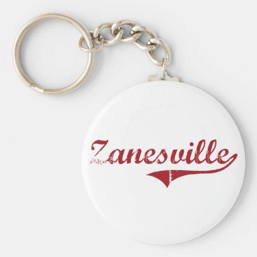 Zanesville Ohio Classic Design Basic Round Button Keychain