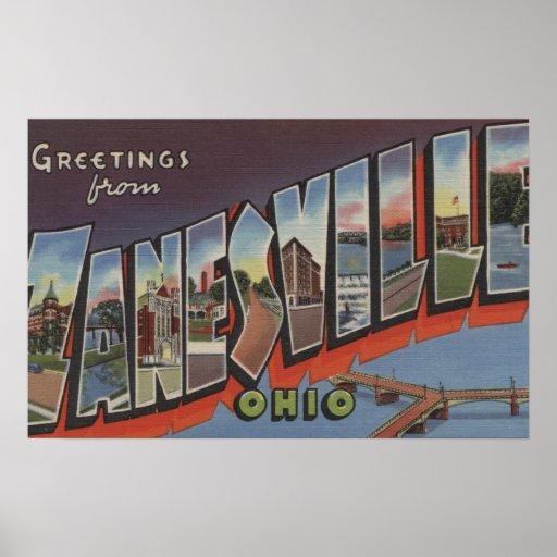 Zanesville, Ohio - escenas grandes de la letra Póster