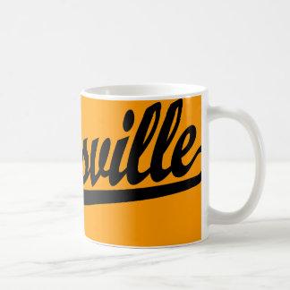 Zanesville script logo in black coffee mug