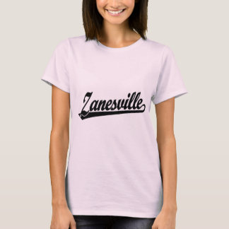 Zanesville script logo in black T-Shirt