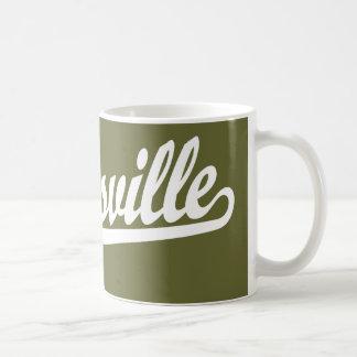 Zanesville script logo in white coffee mug