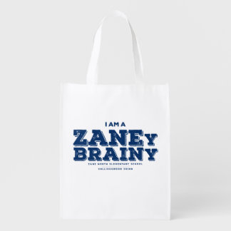 Zaney Brainy Reusuable Shopping Bag Grocery Bags