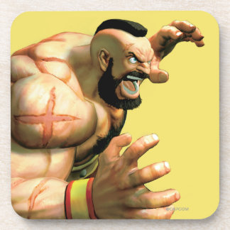 Zangief Ready to Grab Beverage Coaster