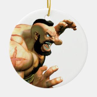 Zangief Ready to Grab Christmas Tree Ornament