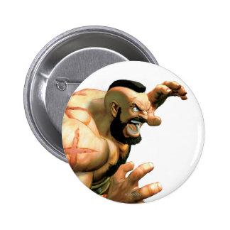 Zangief Ready to Grab Pinback Button