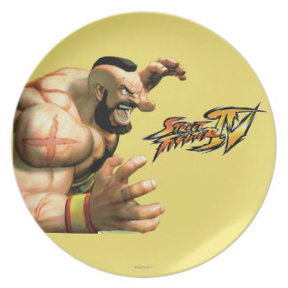 Zangief Ready to Grab Party Plates
