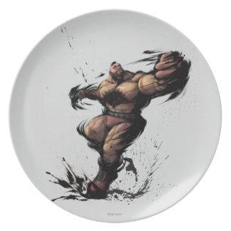 Zangief Spin Dinner Plate