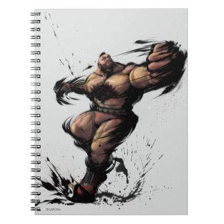 Zangief Spin Spiral Notebook