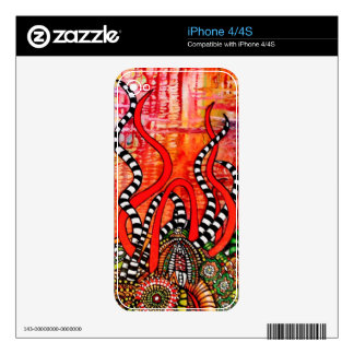 Zangles and Stripes iPhone 4S Decal