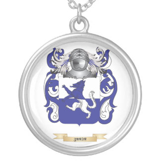 Zanin Family Crest (Coat of Arms) Silver Plated Necklace
