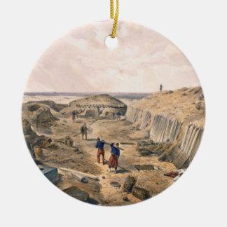 Zanja del bastión du Mat, placa 'de Seat Ornamentos De Reyes