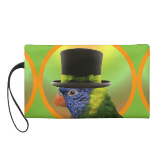 Zanny, Circus Parrot Riot Wristlet Clutch