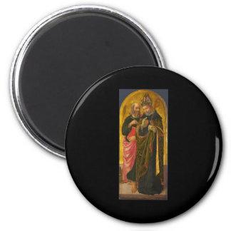 Zanobi Machiavelli Saint Mark and Saint Augustine 2 Inch Round Magnet