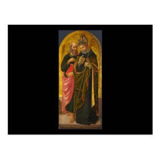 Zanobi Machiavelli Saint Mark and Saint Augustine Postcard