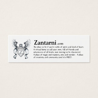 Zantarni advert card (blk/wh)