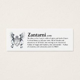 Zantarni advert card (blk/wh)