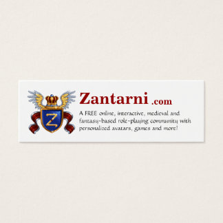 Zantarni.com Mini Business Card
